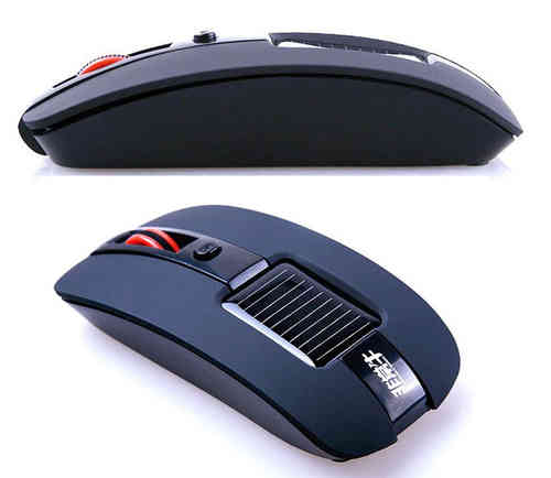 Wireless solar mouse