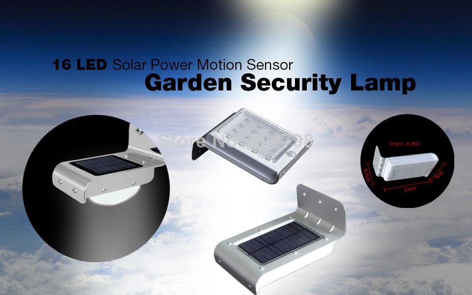 Luz LED solar para exteriores con sensor