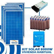 Sistema solar fotovoltaico de 8.000W