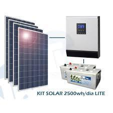 Sistema solar fotovoltaico de 2.500W