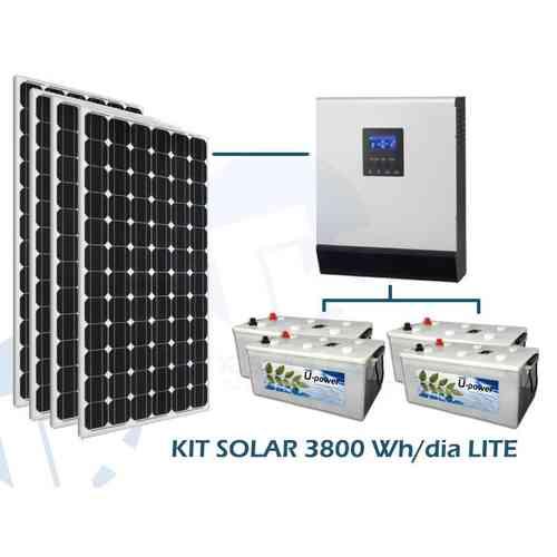 Sistema solar fotovoltaico de 3.800W