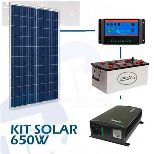 Sistema solar fotovoltaico aislada de 750W