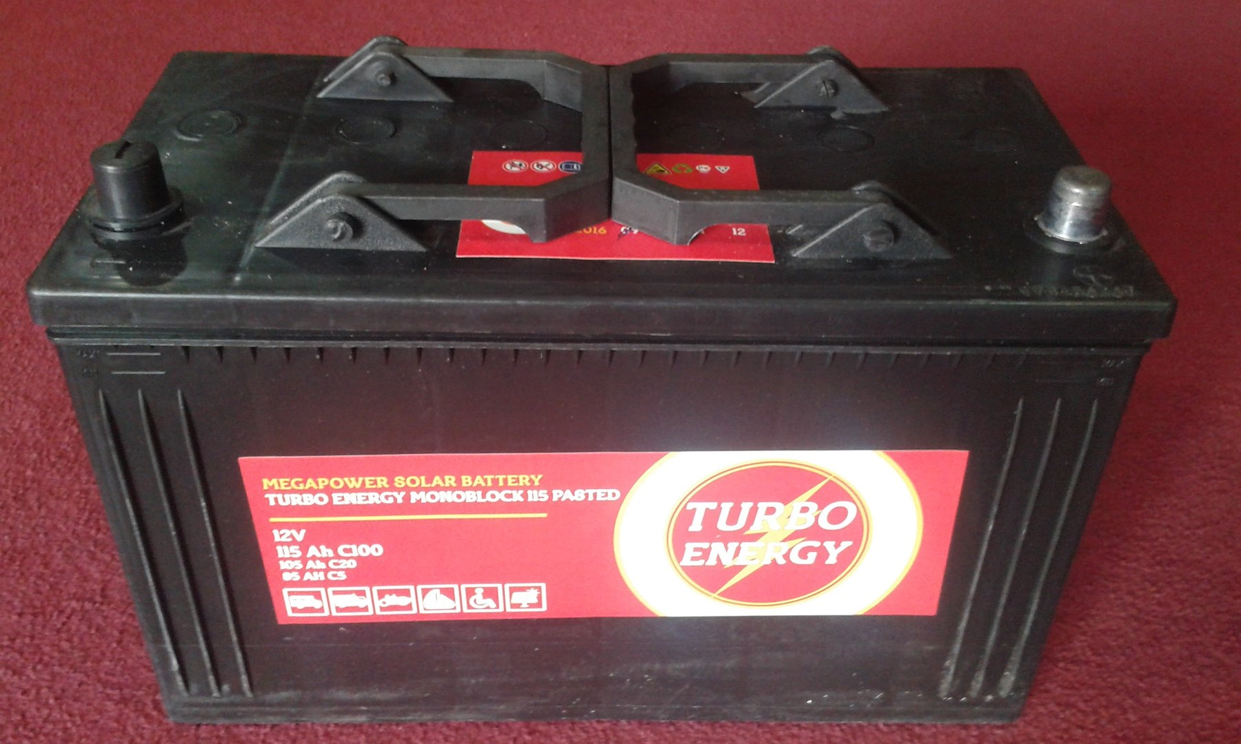 Monoblock Battery 115Ah C100 12V Turbo Energy