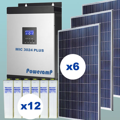 1,5 kW Solar kit injection 0 with batteries