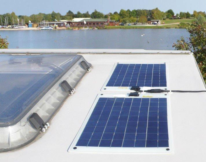Panel solar flexible de 20W 12V