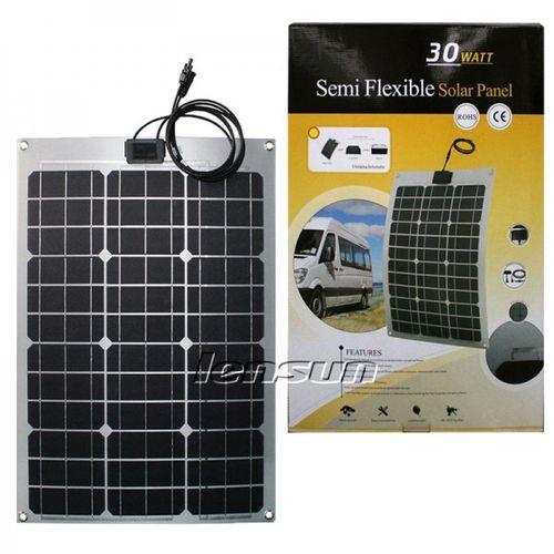 30W 12V Semi Flexible Mono Solar Panel Perfect for Yacht,Boat,Caravan