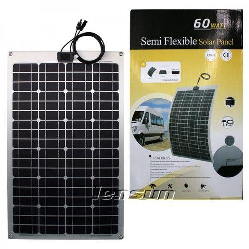 60W 12V Semi Flexible Mono Solar Panel Perfect for Yacht,Boat,Caravan