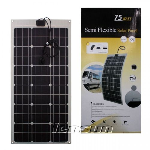 75W 12V Semi Flexible Mono Solar Panel Perfect for Yacht,Boat,Caravan