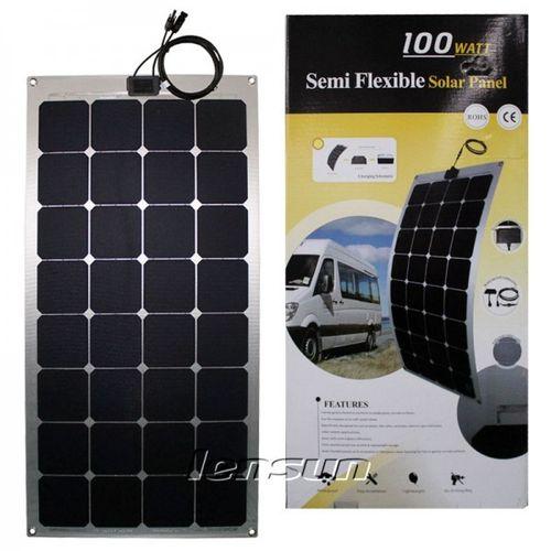 100W 12V Semi Flexible Mono Solar Panel Perfect for Yacht,Boat,Caravan