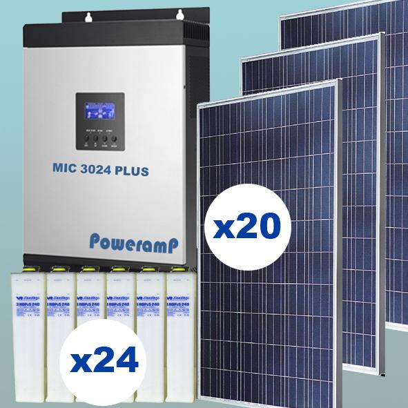 Kit solar de 5 kW inyección 0 con baterías
