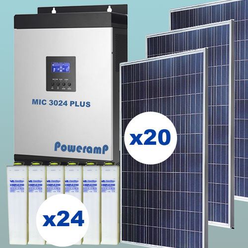 5 kW Solar kit injection 0 with batteries