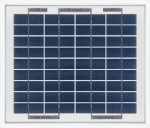Panel solar monocristalino Turbo Energy de 5W 12V