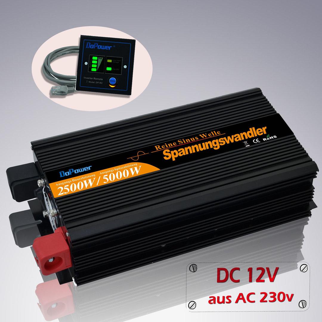 Inversor DoPower de 2500W y 12V