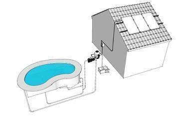 Sistema solar depuración de piscinas con bomba 0.75CV