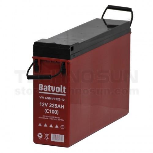 Batería Batvolt AGM 225A con bornes frontales