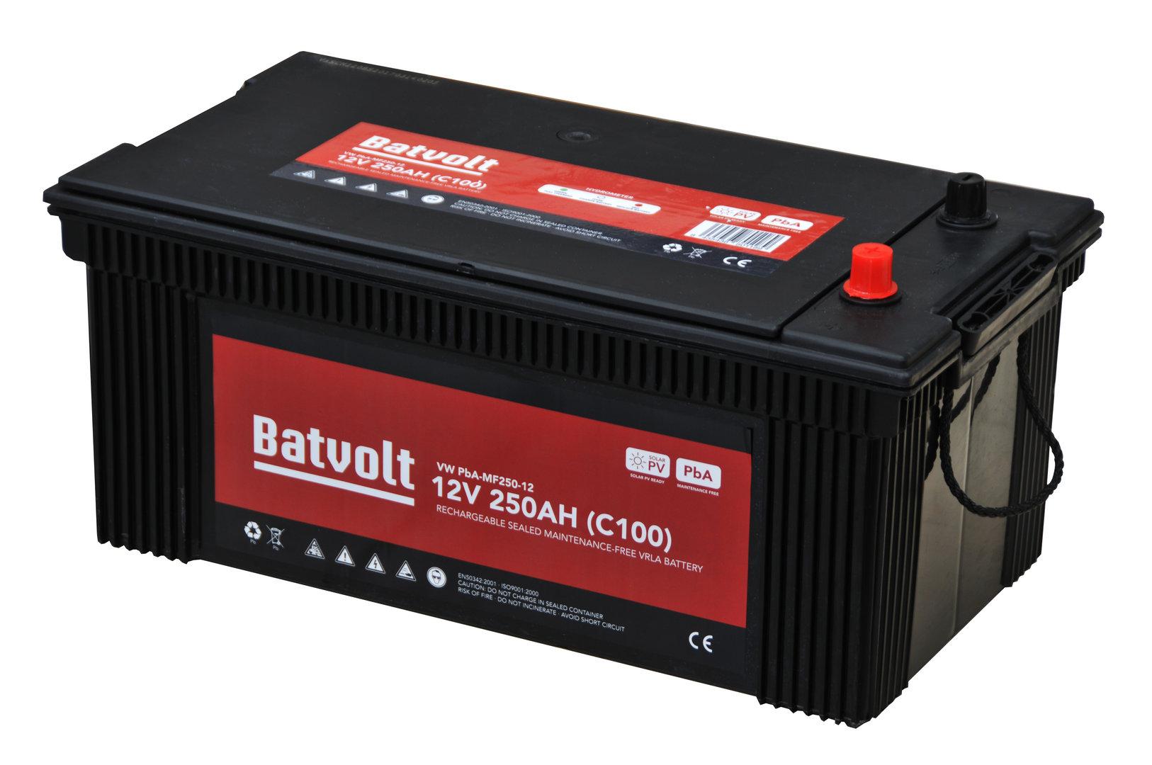Vrla Monoblock Battery Sealed Without Maintenance 250a Solar Short Circuit Car