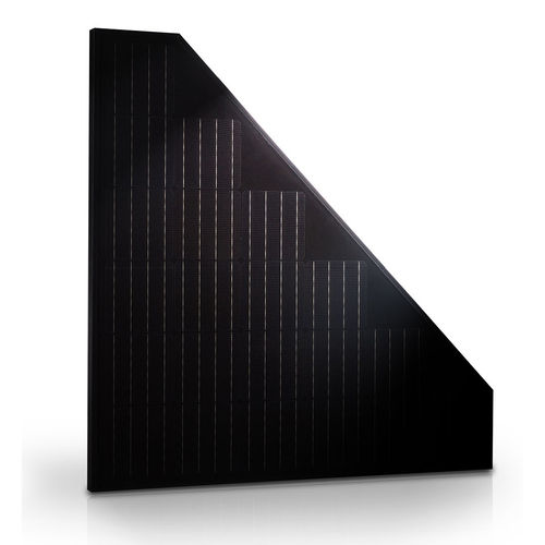 Panel solar triangular para tejados triangulares.