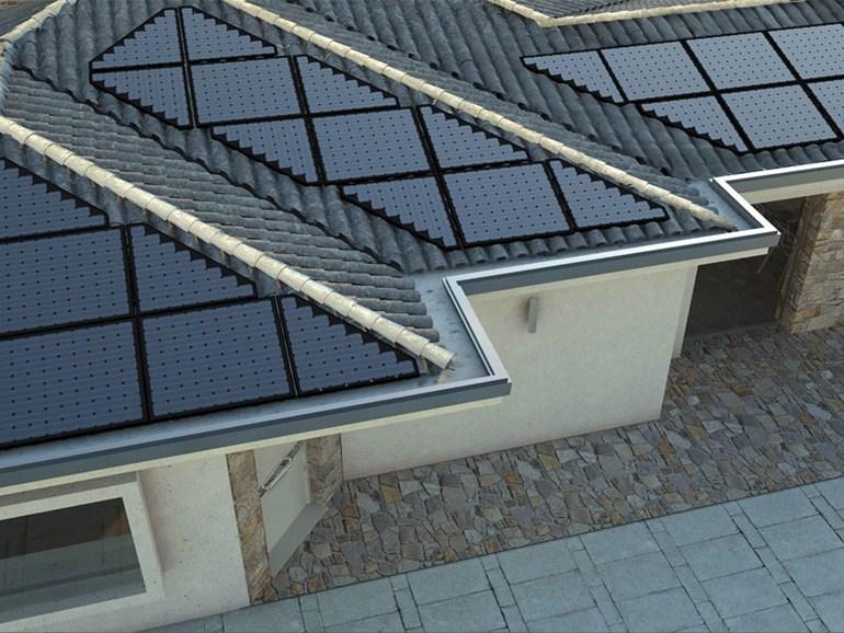 Triangular solar panel for triangular roofs