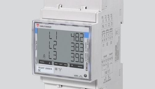 Medidor de energía trifásico