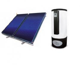 295 liters and two solar panels solar hot water systems Solartermic