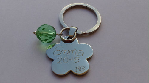 STEEL KEY-CHAIN ENGRAVED WITH
