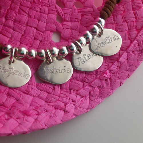 925 SILVER BRACELET WITH FOUR MEDALS