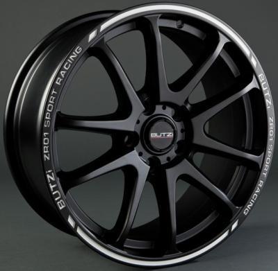 "Wheel ZR01 6,5x 15""  4 100 35 67,1 Mat Black/White"