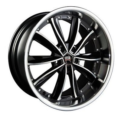 Cerchione GT-V/HS225 8x18 5x100 ET38 67,1 Black/Full Polish