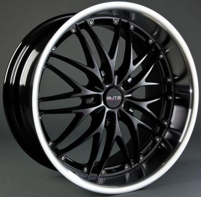 "Wheel GT-R/HS169 7,5x 17""  5x110 ET40 67,1 Black/Polished Lip"