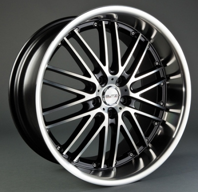"Wheel GT-C/HS188 7,5x 17""  4x100 ET38 67,1 Black/Full Polis"