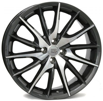 Jante WSP FiRe MiTo 7.0x17.0 ET37 4X100 56,6 ANTHRACITE POLISHED