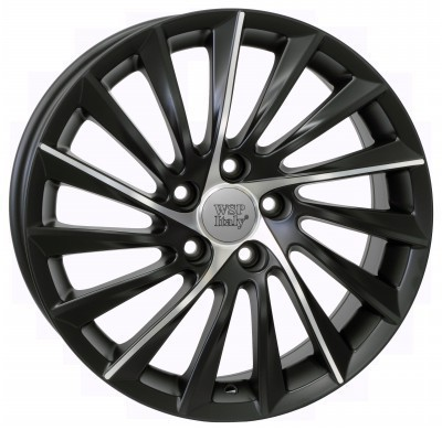Wheel WSP GIULIETTA 7.5x17.0 ET41 5X110 65,1 DULL BLACK POLISHED
