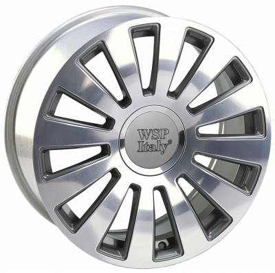 Cerchione WSP A8 RAMSES 7.0x16.0 ET42 5X100/112 57,1 ANTHRACITE POLISHED