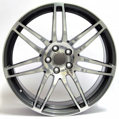 "Llanta WSP S8 COSMA (""Undercut"" tech) 7.5x17.0 ET45 5X112 57,1 ANTHRACITE POLISHED"