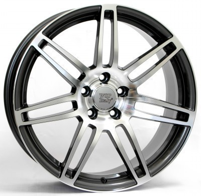 Llanta WSP S8 COSMA TWO 7.5x17.0 ET28 5X112 66,6 BLACK POLISHED