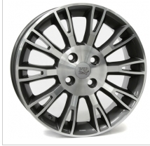 Wheel WSP VALENCIA 6.0x15.0 ET45 4X100 56,6 SILVER POLISHED
