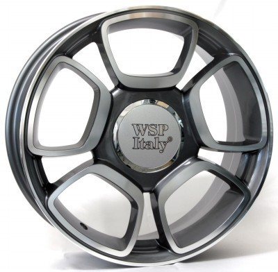 Jante WSP FORIO 7.0x17.0 ET37 4X100 56,6 ANTHRACITE POLISHED