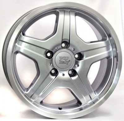 Wheel WSP MATERA 9.5x18.0 ET50 5X130 84,1 SILVER POLISHED LIP
