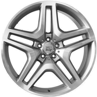 Wheel WSP ISCHIA 9.5x20.0 ET50 5X130 84,1 SILVER POLISHED LIP