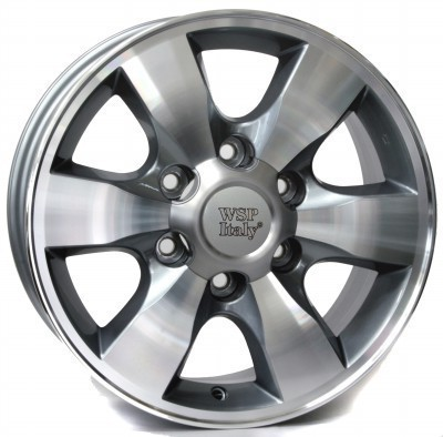 Jante WSP SAPPORO / Fortuner 7.0x16.0 ET30 6X139,7 106,1 ANTHRACITE POLISHED