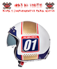 CASCO MT LE MANS 2 SV NUMBERPLATE BLANCO PERLA
