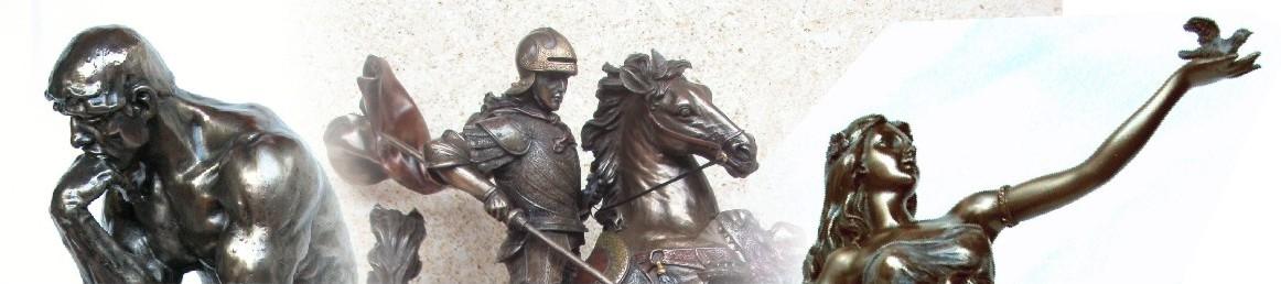 figuras de resina metalizadas