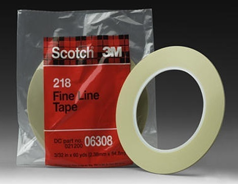 "Cinta perfilar Scotch ""218"" 3M (1,5mm x 55 mtr)"