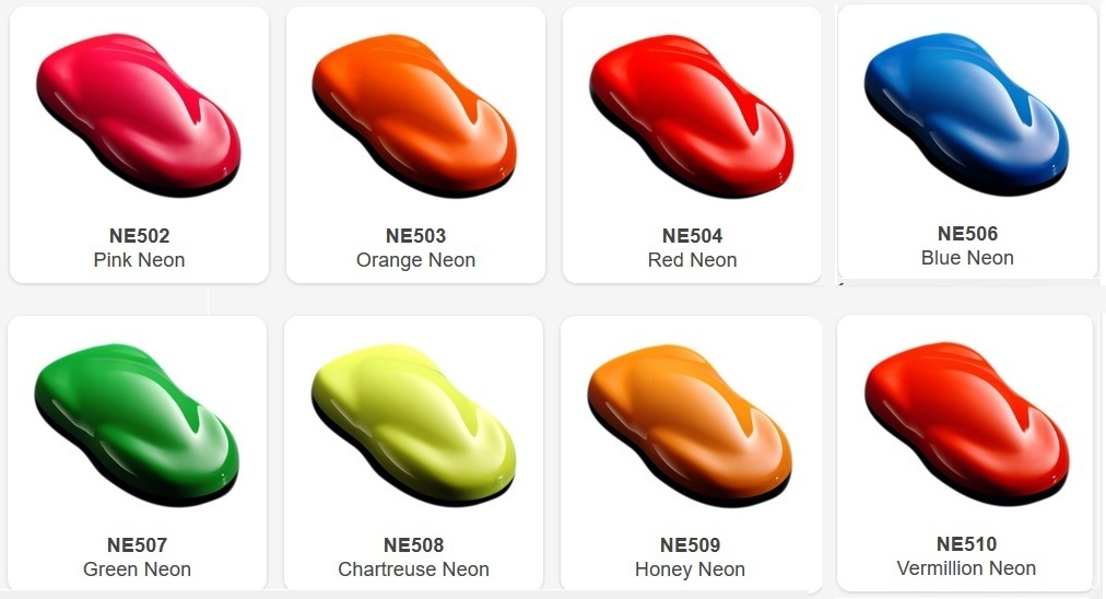 Pinturas Neon / Fluor House Of Kolor (120ml)