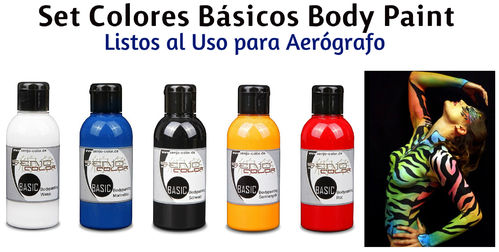 Kit 5 Colores PRIMARIOS Body Paint SENJO (75ml) (-10%)
