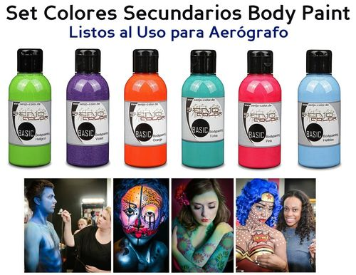 Kit 6 Colores SECUNDARIOS Body Paint SENJO (75ml) (-10%)