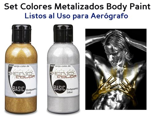 Kit 2 Colores METALIZADOS Body Paint SENJO (75ml) (-10%)