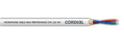 Cable de micrófono / stereo Cordial CMK222 blanco, 2x0.22mm2
