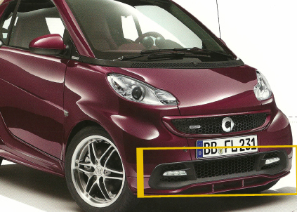 SMART 451 FORTWO. Grille for daylight