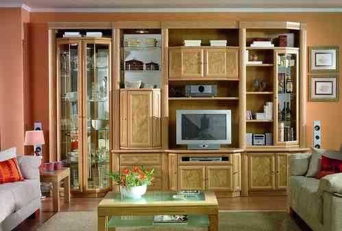 Librer as cl sicas muebles san miguel for Librerias para salon